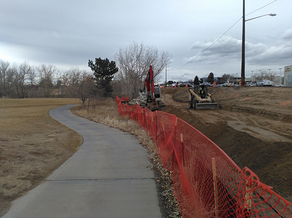 Installation of new sidewalk at Kennedy Golf Course image 1