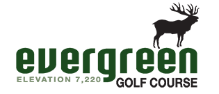 Horizontal Logo of Evergreen Golf Course in Denver