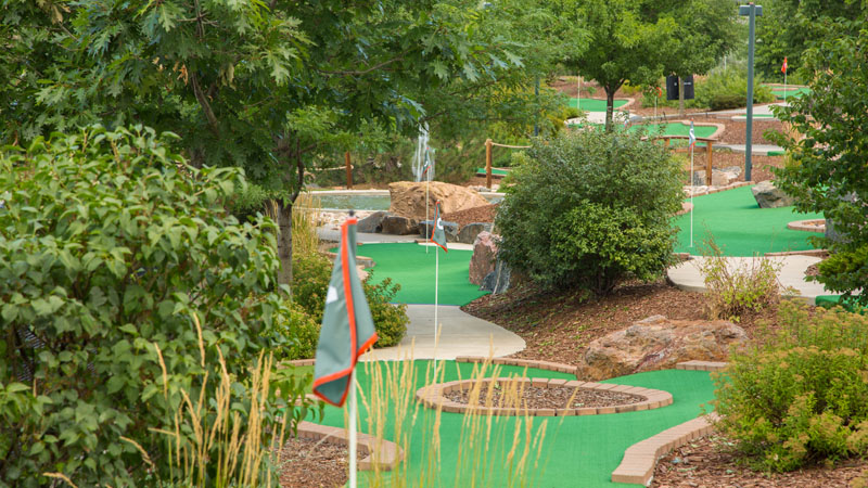 Aqua Golf first three holes of the Platte river miniature course