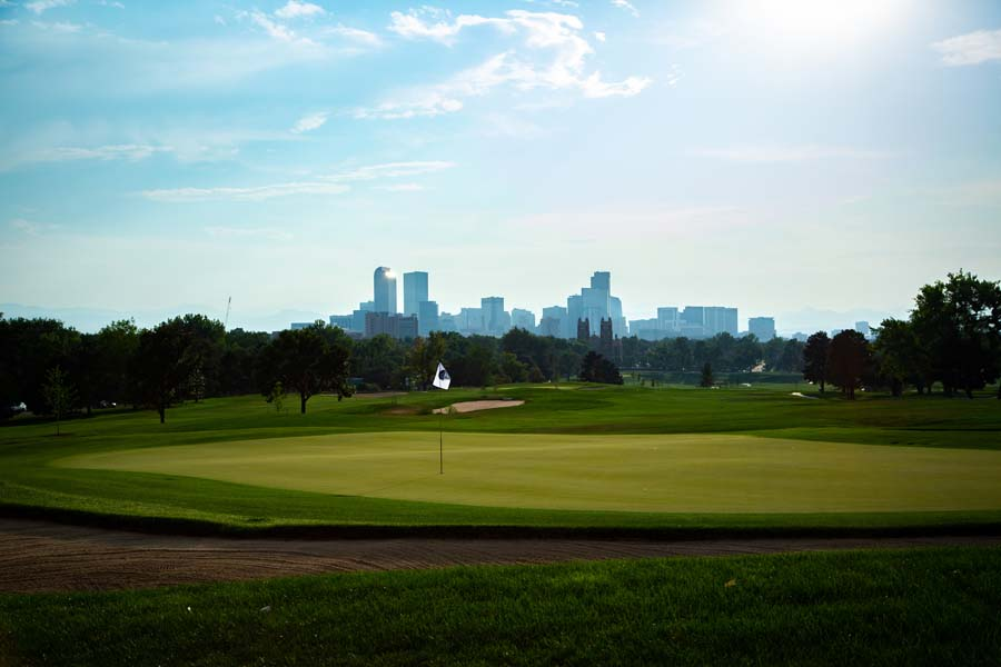 View of hole #18 green at City Park Golf Course